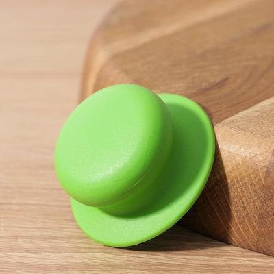 Ручка для крышки на посуда с саморезом, d=6 см, цвет зелёный - Фото 1