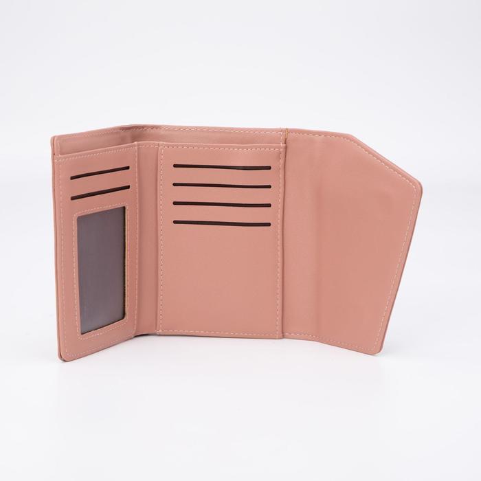 Кошелёк женский, отдел на магнитах, цвет розовый