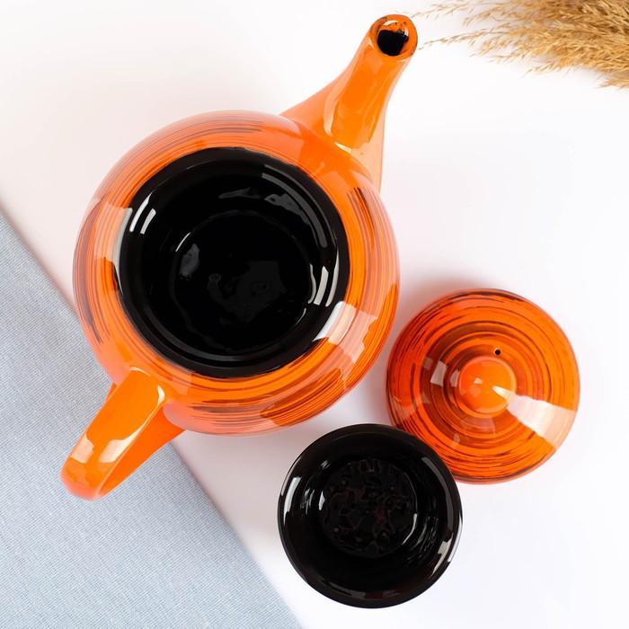 """Чайник """"Элегант"""", 1,2л, оранжевая полоска"""