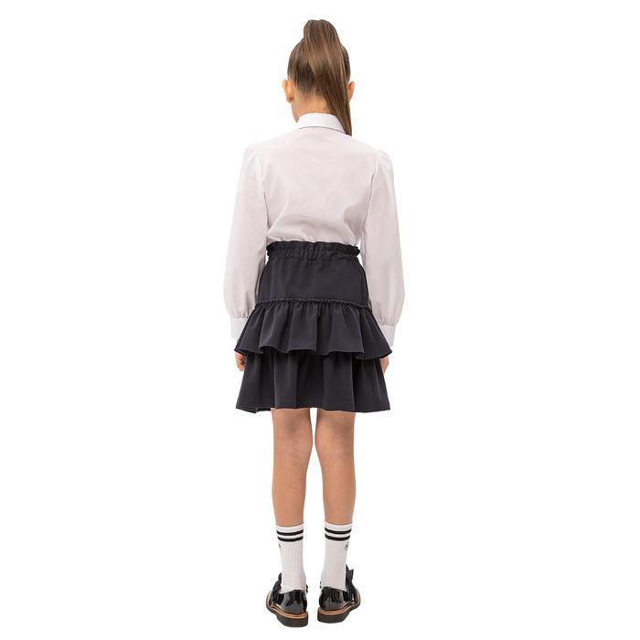 Юбка для девочек, рост 164 см, цвет синий
