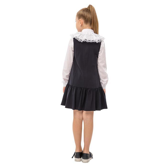 Блузка для девочек, рост 152 см, цвет белый