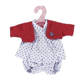 Комплект одежды с красной кофточкой, для кукол высотой 26 см
