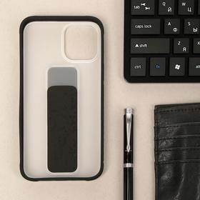Чехол LuazON для iPhone 12 Pro Max, с ремешком-подставкой, пластиковый, черный