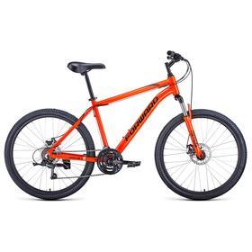 """Велосипед 26"""" Forward Hardi 2.1 disc, 2021, цвет оранжевый/черный, размер 18"""""""