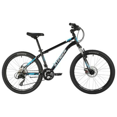 """Велосипед 24"""" Stinger Caiman D, 2021, цвет чёрный, размер 12"""" - Фото 1"""