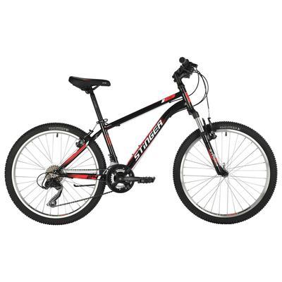 """Велосипед 24"""" Stinger Caiman, 2021, цвет черный, размер 12"""" - Фото 1"""