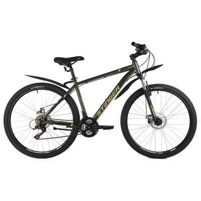 """Велосипед 27,5"""" Stinger Caiman D, цвет зеленый, размер 16"""" - Фото 1"""