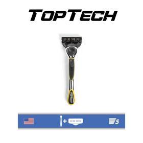 Бритвенный станок Toptech Razor 5, 1 бритва + сменная кассета, 5 лезвий, совместим с Gillette Fusion5, Fusion5 Power
