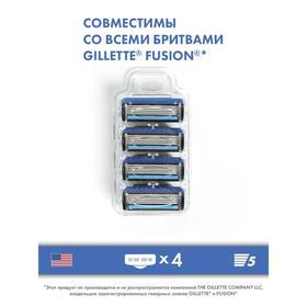 Сменные кассеты Toptech Razor 5, совместимые с Gillette Fusion 5, 4 шт. с 5 лезвиями