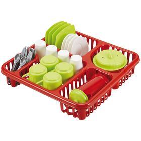 Большой набор детской посуды в сушилке