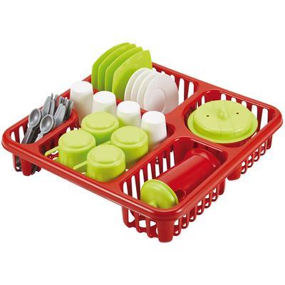 Большой набор детской посуды в сушилке - Фото 1