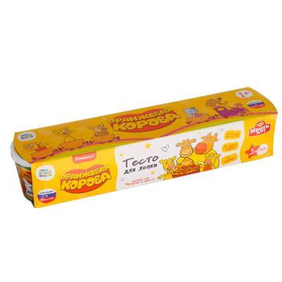 Тесто для лепки «Оранжевая корова» 4 цв. по 60 г - Фото 1