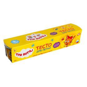 Тесто для лепки «Три Кота» 4 цв. по 60 г (неон)