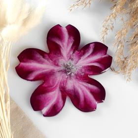 """Подставка из эпоксидной смолы """"Цветок"""" 13х13см, фиолетовый с серебром"""
