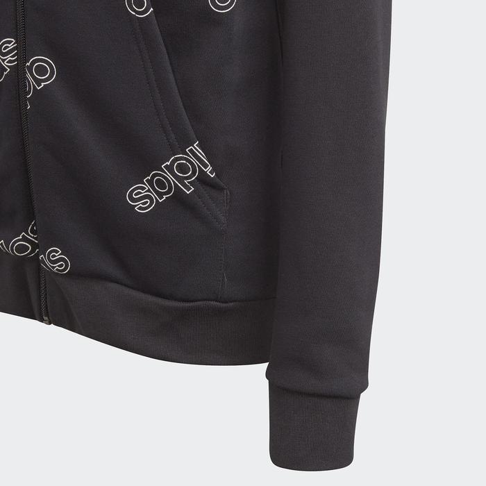 Толстовка для мальчика, Adidas Yb Fav Aop Full Zip, рост 135-140 см (GD6107)