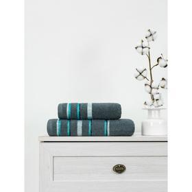 Полотенце махровое Cotton Line, размер 70x130 см, цвет тёмно-серый