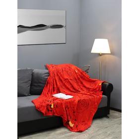 Плед «Розы красные», размер 150x200 см, цвет красный