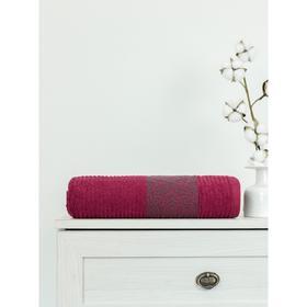 Полотенце махровое Cotton Barok, размер 70x130 см, цвет красный