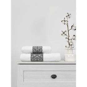Полотенце махровое Cotton Barok, размер 50x90 см, цвет белый