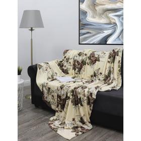 Плед «Букеты роз», размер 180x210 см, цвет молочный, бежевый