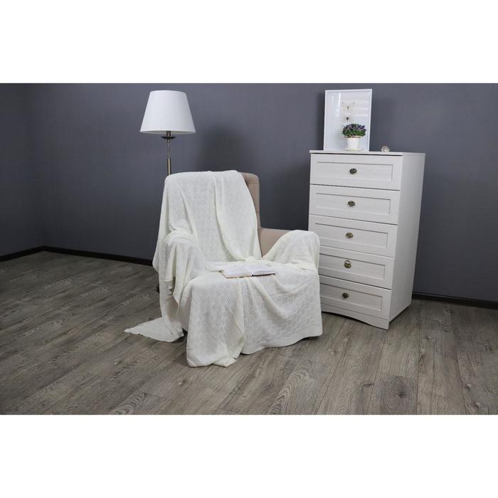 Плед вязаный Assai, размер 180x210 см, цвет молочный