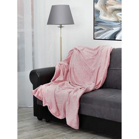 Плед Elite «Узор», размер 200x220 см, цвет розовый