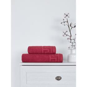 Полотенце Greece, размер 50x90 см, цвет красный