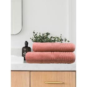 Полотенце махровое Flesh, размер 50x90 см, цвет персиковый