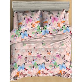 КПБ Butterflies 1,5 сп., размер  150x210 см, 145x215 см,  70x70 - 2 шт