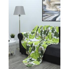Плед «Листья клёна», размер 150x200 см, цвет зелёный, бежевый