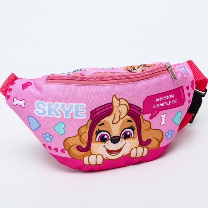 """Cумка на пояс """"Скай"""" , 25*6*13, отд на молн, без подклада, розовый"""