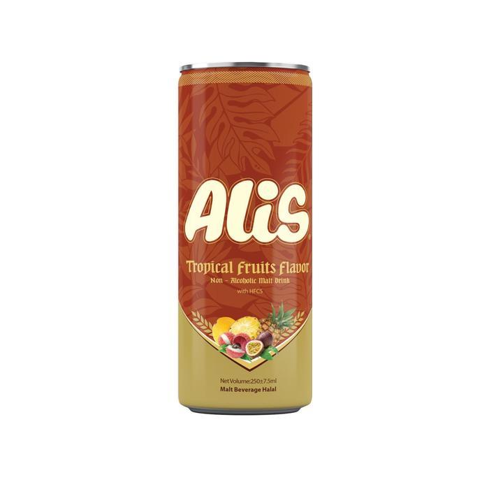 Безалкогольный солодовый напиток Alis со вкусом тропических фруктов, 240 мл