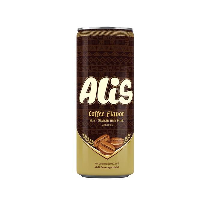 Безалкогольный солодовый напиток Alis со вкусом кофе, 240 мл