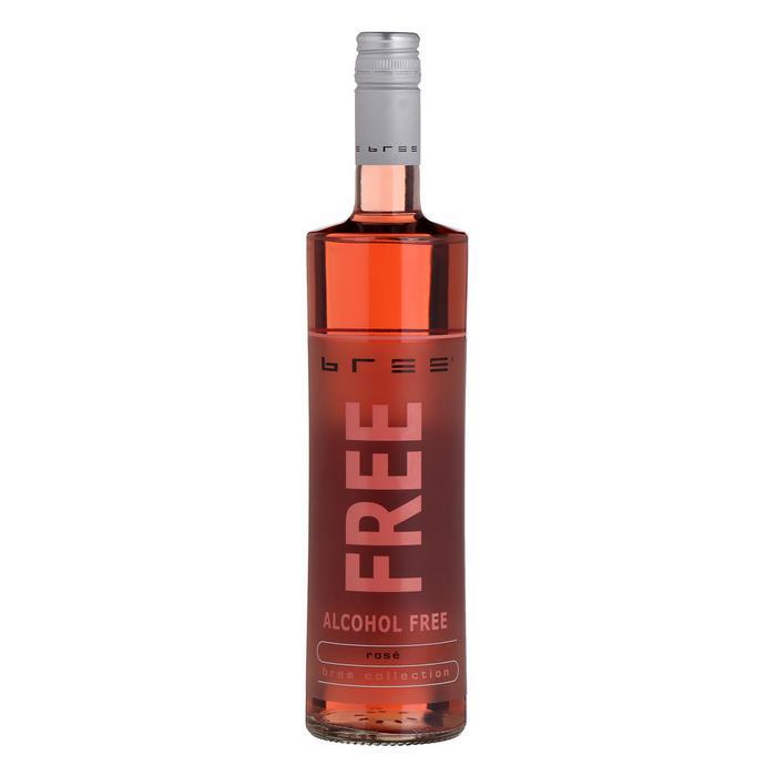 Безалкогольное розовое полусладкое вино Bree Free, 0,75 л
