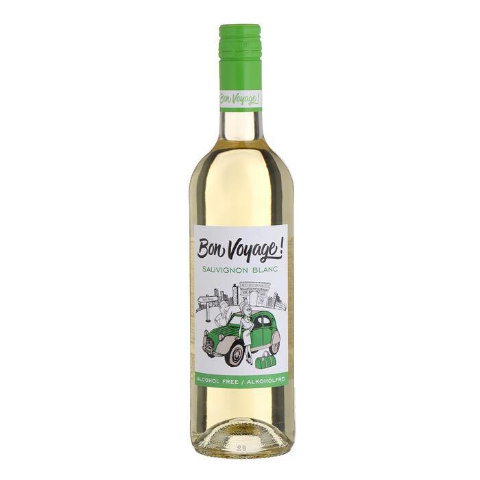 Безалкогольное белое сухое вино Bon Voyage Sauvignon Вlanc, 0,75 л