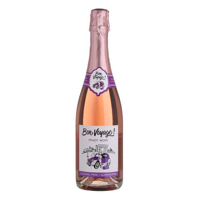 Безалкогольное игристое розовое вино Bon Voyage Pinot Noir, 0,75 л