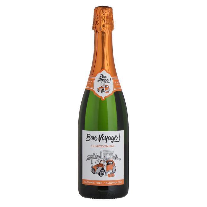 Безалкогольное игристое белое вино Bon Voyage Chardonnay, 0,75 л