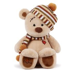 Мягкая игрушка «Медведь Misha», в шапке, 30 см