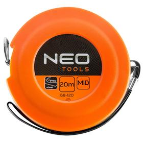 Рулетка NEO 68-120, 20 м х 9.5 мм, стальная, нейлоновое покрытие