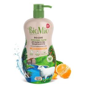 Средство для мытья посуды, овощей и фруктов BioMio с эф.маслом Мандарина концентрат 750 мл