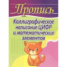 Каллиграфическое написание цифр и математических элементов (кошка). Шамакова Е.