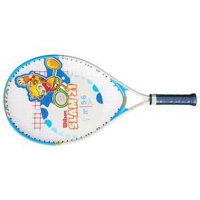 Ракетка для большого тенниса Wilson SLAM 21, для детей 6-5 лет, алюминий, со струнами Ош