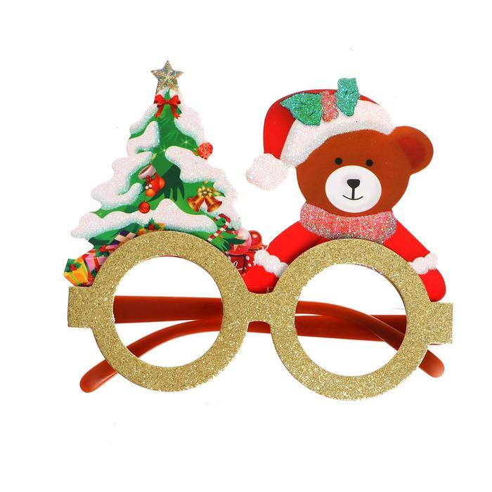 Карнавальные очки Новый год, виды МИКС