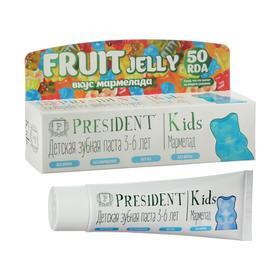 Зубная паста детская President Kids 3-6 мармелад, без фтора, 50 RDA, 50 мл