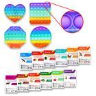 Антистресс игрушка POP IT с объёмными буквами + обучающие карточки «Изучаем английский язык», МИКС №1 - Фото 2