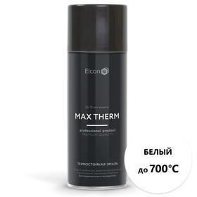Термостойкая антикоррозионная эмаль Elcon Max Therm, до 7000 °С, 0,52 л, белая, аэрозоль Ош