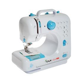 Швейная машина VLK Napoli 2350, 6 Вт, 12 операций, полуавтомат, бело-голубая Ош