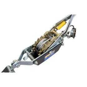 Лебедка ручная KRAFT KT705008, с двойным храповым механизмом, 2 т, 2.2 м, 2 крюка Ош