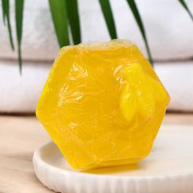 Мыло ручной работы Медовое с ароматом липы и календулой, 70 г