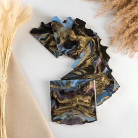 Подставка из эпоксидной смолы, 6 частей, 24х54см, северное сияние